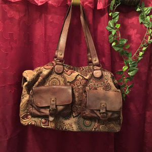 Wilson Vintage Genuine Leather Italy Boho Bag